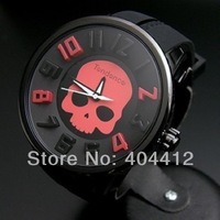 2014 Brand New Men's Quartz Wrist Watches,Famous Bold Pattern & 3D Number Design Rubber Band Wristwatch for Men,Free Shipping