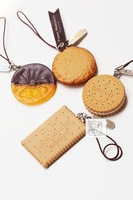 Sweet Desserts Cellphone Strap Cake Biscuit Ice Cream Chocolate Cookies Mobile Phone Charm--Christmas Gift Novelty Toy