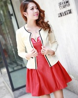 8813 real pictures with model all-match coat small cape cardigan long-sleeve spring and autumn short jacket