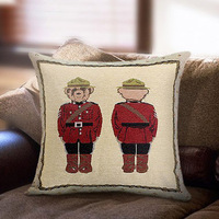 2014 NEW design cushion cover unique decortive pillow case with lovely bear police high quality KNITTING Never fade