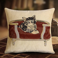 2014 NEW designers cushion cover unique decortive pillow case CUTE cate on chair SUPER high quality KNITTING Never fade