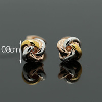 Fashion simple and elegant alloy 18k quality carrick-bend stud earring female charming all-match earrings