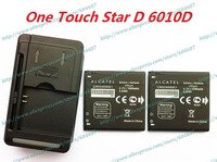 2pcs New CAB32A0000C1 TLiB5AB Battery+Wall Charger For Alcatel One Touch Star D 6010D OT-6010D Phone