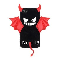 10pcs/lot Free SG Post TPU Plush silicone little devil Case for iPhone 5/5S Cover , cute Case For iPhone 4/4S