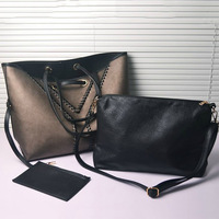 Bags 2014 female double faced y chain big bag fashion vintage bag handbag shoulder bag women bag
