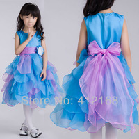 Photography Pyrotechnics Colourful Flower Girl Dresses For Weddings&Party Kids Fantasy Prom Princess Pageant Children's 5864