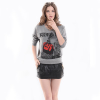 2014 spring and autumn clothing plus size basic shirt long-sleeve T-shirt female plus size batwing shirt