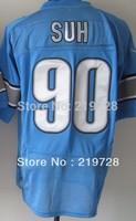 Free Shipping Wholesale&Retail Men's Elite American Football Jersey #90 Ndamukong Suh Jersey Embroidery Logos Size M-3XL
