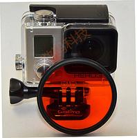 Gopro hero3 filter adapter ring submersible filter red gopro