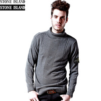 Stone men's clothing sweater man jacket male outerwear plus velvet sweater island