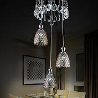 2014 Hot Sale Time-limited Knob Switch Luminaria Lustres De Sala Fashion Brief Restaurant Lamp Pendant Light Amber Crystal Led
