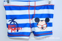 901051 Mike Logo and Beach  for Children's swimming Trunks Cute children boy child baby cartoon spa beach Boxer Shorts Trunks