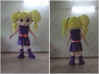 yellow hair girl  mascot costume party costumes fancy animal character mascot dress amusement park outfit