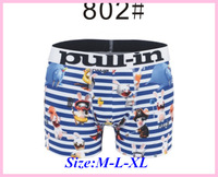 Free Shipping Trend Fashion Brand Pull In Black Full Rabbit Print Cheap Man Boy Fashion Blue Letter Best Gift Underwear Boxer