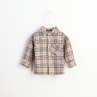 Hotsale 5pcs/lot plaid kids shirts, summer boys cotton shirts, children clothing