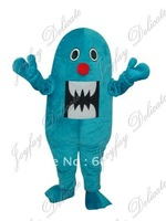 Hot sale! mascot costumes bule MONSTER for sale  anime carnival costume Halloween Dress kids party free shipping