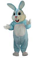 Rabbit Bunny Light Blue WHite Mascot Costume Adult Size HOT SALE Brand New