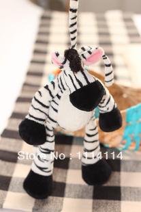 Gray and black zebra small plush toys for children(China (Mainland))