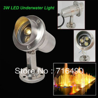 Single Color 5pcs/lot 3W High Power IP68 Waterproof LED Underwater Lamp Underwaterlight Two Years Warranty