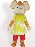 Hot sale! mascot costumes  Monkey In Yellow Clothe  for sale Animal carnival costume Halloween Dress kids party free shipping