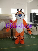 Hot sale!  Crooked tiger  Mascot Costume, Advertising Costume,Cartoon Costume  for sale Animal carnival costume free shipping