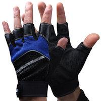 Luwint semi-finger five fingers fishing gloves glue slip-resistant waterproof gauze