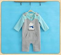 Newbron Infant Toddler Baby christmas rubbit bib rompers +long sleeve top 2 pc set
