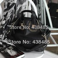 New 2014 Hot Rivet Designer Women Genuine Leather Handbags Famous Brand Style Girl Lady Tote Shoulder Crossbody Bag Messsenger