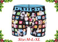 Free Shipping Stock Brand Brand Pull In Black Full Rabbit Print Cheap Man Boy Fashion Blue Letter Best Gift Underwear Boxer