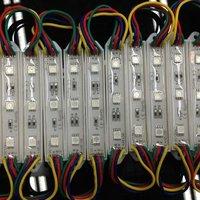 free shipping decoration SMD5050 20pcs a string DC12V Waterproof rgb led module 100pcs/lot