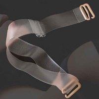 Scrub transparent shoulder strap broadened transparent bra with transparent underwear shoulder strap
