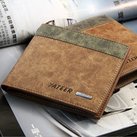 2014 Hot selling fashion  brand genuine leather men wallet casual  style male wallet 8017