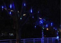 White/blue 20cm 80Leds Shower Meteor Rain Light Tube Christmas Decoration Lights US plug 82843
