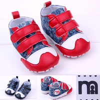 Shopping festival Baby canvas shoes 0-1 year old baby spring toddler soft shoes slip-resistant soft sole children shoes