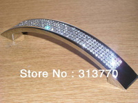 64mm chrome color 2014 New Style Free shipping K9 crystal glass drawer cabinet handle