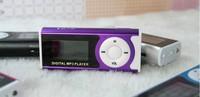 Mini LCD Screen Mini Clip MP3 Music Player 5 Colors with Speaker Flashlight Earphone USB Cable Support Micro SD/TF Slot 300pcs