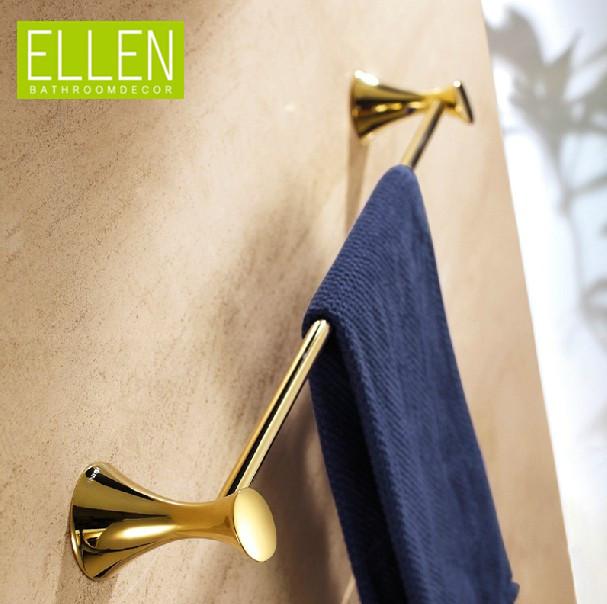 2014 New Gold Towel Bar Single Wall Towel Hanger Holder Accessories Banheiro(China (Mainland))