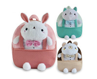 Children fashion plush rabbit backpacks kids cartoon children girls shoulder bag retail