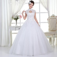 2014 wedding formal dress thin quality bride sexy bag puff skirt wedding dress cool