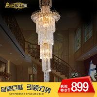 Stair lamp long pendant light crystal pendant light modern brief large pendant light 9003