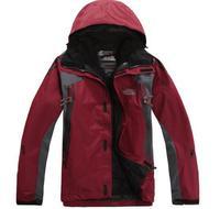 Free shipping 2014 new outdoor climbing clothing two sport coats Waterproof Winter men's ski jacket