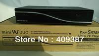 2pcs/lot free shipping hd Twin Tuner media player vu duo support original software, satellite receiver vu duo