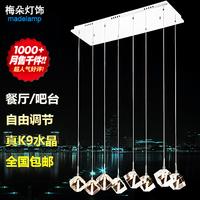 Lighting pendant light crystal lamp restaurant lamp pendant lamp rectangle crystal lamp 311 - 8