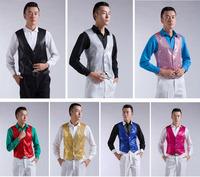 Pure Sequins men's vest Matching suit Suitable for performance wedding 7 Color freesize
