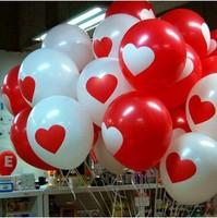 20pcs,  Love Heart Series 12 Inch Latex Polk Dot Balloons, Quality Balloon, Wedding/Birthday Party Decoration