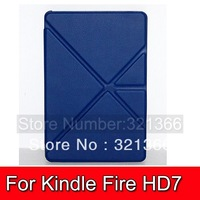 1pc  Transformable Protective PU Leather + PC Case for Amazon Kindle Fire HDX 7 Free shipping