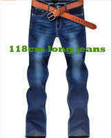 For tall men! 118cm long jeans,Spring elastic jeans man's 29-36 slim skinny pants trousers lengthen men