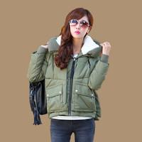 Freeshipping Mm plus size down coat women xxxxl missfofo female short design plus size clothing 200 winter
