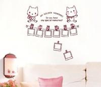 Free shipping!!  JM7103 hello kitty photo frame wall stickers kids room wall sticker 60*90cm