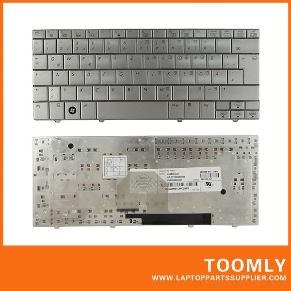 New Original High Quality Laptop Keyboard For HP mini2133 German Version Silver Free Shipping(China (Mainland))
